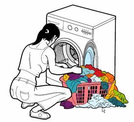 utilisation du lave-linge